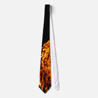 Orange flame tie