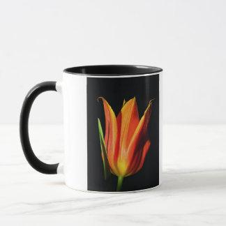 Orange Flame Tulip Mug