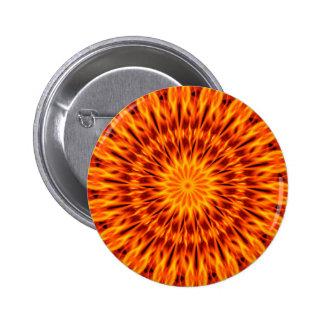 Orange Flames Kaleidoscope Pins