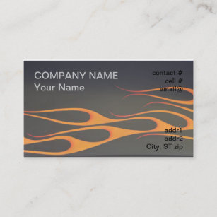Black and orange business cards templates zazzle orange flames on black business card colourmoves