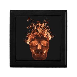 Orange Flaming Skull Gift Box