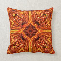 Orange Flares Throw Pillow