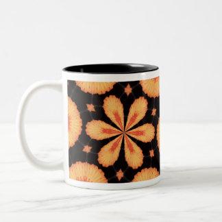 orange flashback Two-Tone coffee mug