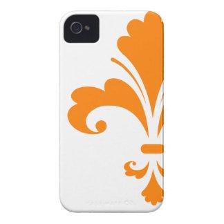 Orange Fleur de lis iPhone 4 Case-Mate Cases