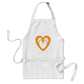 Orange flip flops 1 adult apron