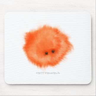 Orange Floor Nibbler Critter Mouse Pad