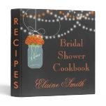 orange floral Chalkboard Mason Jar Recipe Folder