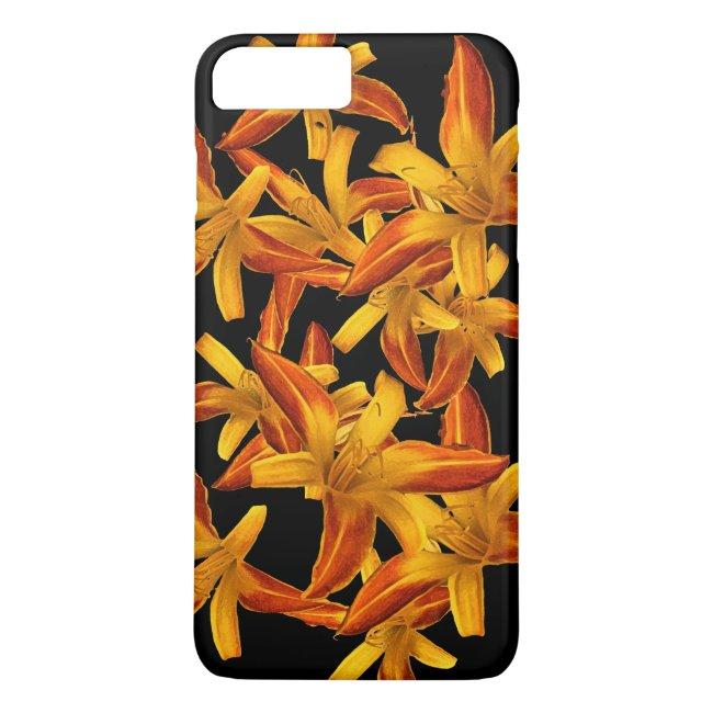 Orange Floral Daylilies iPhone 8/7 Plus Case
