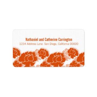 Orange Floral Decadence Address Labels