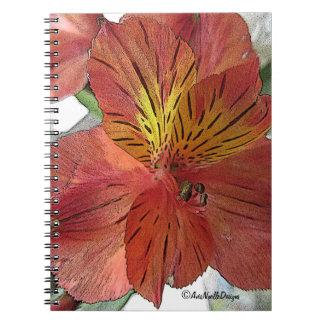 Orange Floral-Freesia Note Book