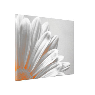 Orange Floral Highlights Canvas Print