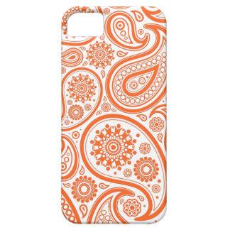 Orange Floral Paisley Monogram Pattern iPhone SE/5/5s Case