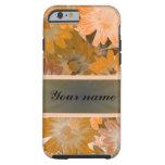 Orange Floral pattern iPhone 6 Case