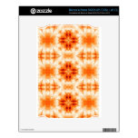Orange floral pattern NOOK decal