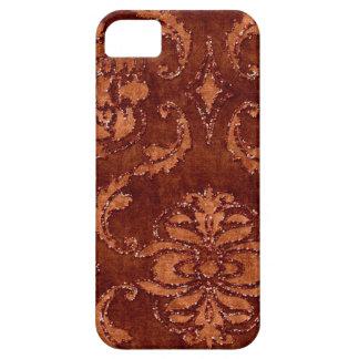 Orange Floral Sequin Glitter Velvet Look Case