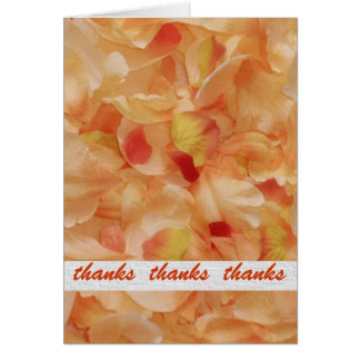Orange Floral Thank You Notes