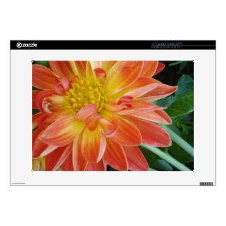 """orange-flower 15"""" laptop skin"""