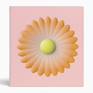 orange flower 3 ring binder