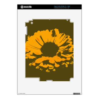 Orange Flower Abstract Decals For The iPad 2