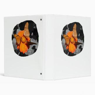Orange flower and orange butterflies photograph binders