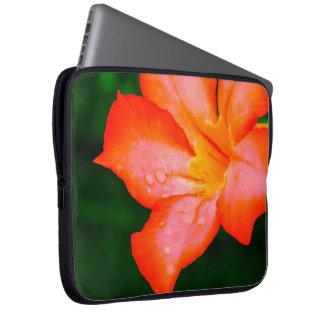 orange flower background computer sleeves