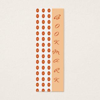 Orange Flower BookMarks Mini Business Card