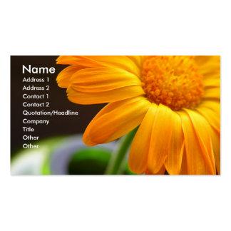 Orange Flower Business Card