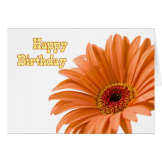 Orange Flower Business From Group Birthday Card
