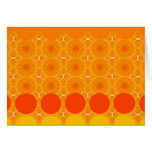 Orange flower circles, note card