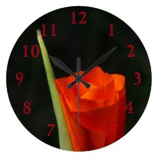Orange Flower Clocks