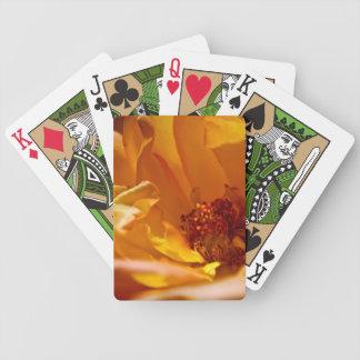 Orange Flower (Close) Bicycle Playing Cards