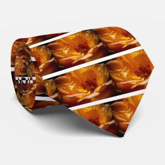 Orange Flower (Close) Neck Tie