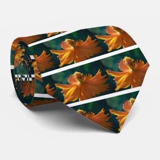 Orange Flower (Close) Tie