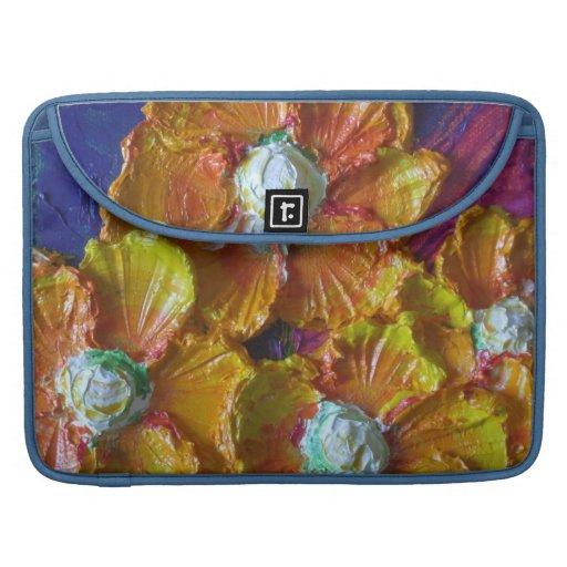 Orange Flower Cluster Macbook Pro Sleeve