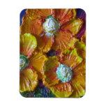 Orange Flower Cluster Magnet
