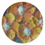 Orange Flower Cluster Plate
