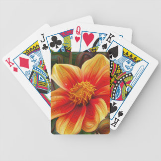 Orange Flower, DeepDream style Bicycle Playing Cards