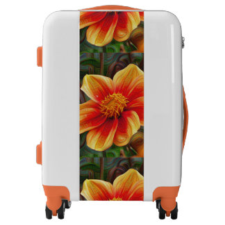 Orange Flower, DeepDream style Luggage