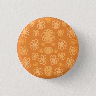 Orange Flower Folly Button