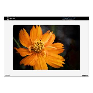 """Orange Flower (Gift) 15"""" Laptop Decal"""