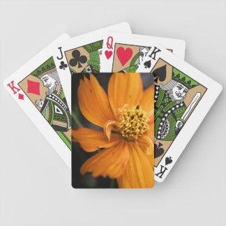 Orange Flower (Gift) Bicycle Playing Cards