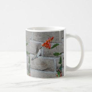 Orange flower Hummingbird Mugs