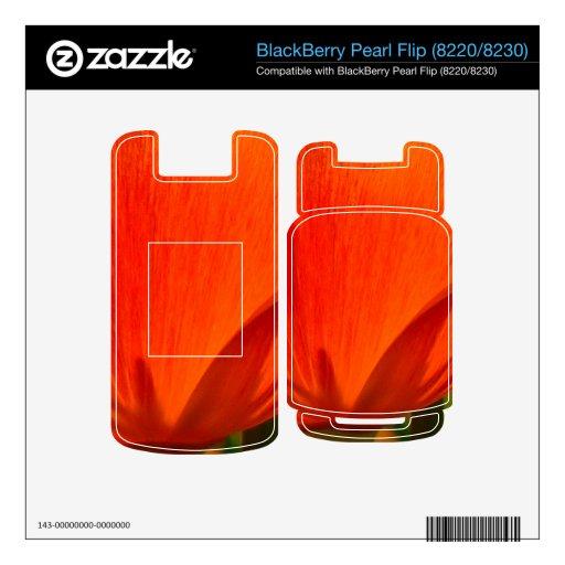 Orange Flower Iceland Poppy Papaver Nudicaule Skin For BlackBerry
