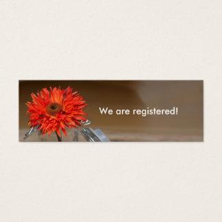 Orange Flower in Mason Jar Registry Mini Business Card