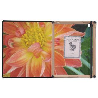 orange-flower iPad folio cases