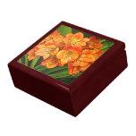 Orange flower keepsake box