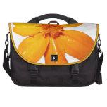 Orange Flower Laptop Bag