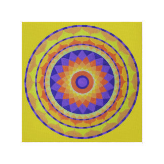 Orange flower Mandala Canvas Print