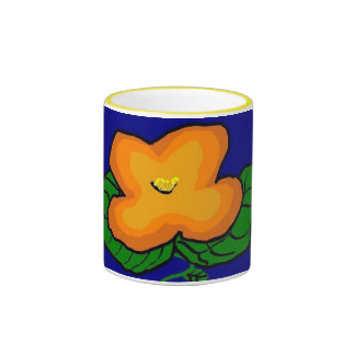Orange Flower mug
