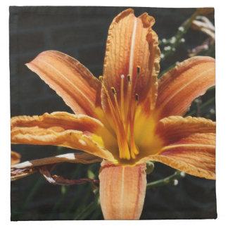 Orange Flower Napkin